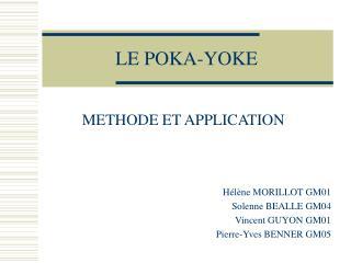 LE POKA-YOKE