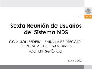 Sexta Reuni n de Usuarios del Sistema NDS