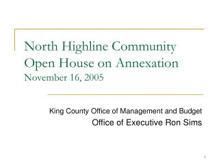 North Highline Community Open House on Annexation