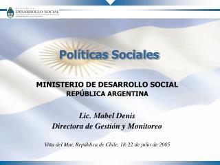 Pol ticas Sociales