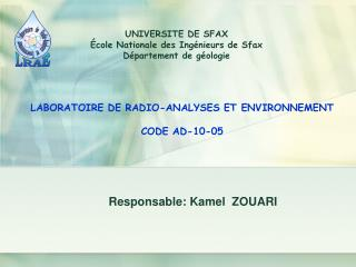 Responsable: Kamel  ZOUARI