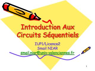 Introduction Aux Circuits S quentiels
