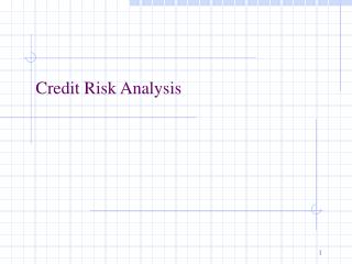 Credit Risk Analysis