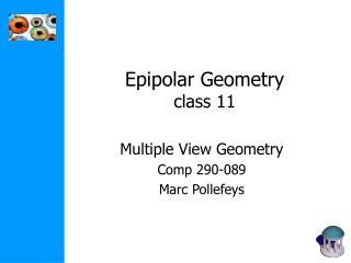 Epipolar Geometry class 11