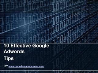 10 Effective Google Adwords Tips