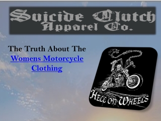Womens Motorcycle Clothing