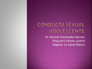 Conducta Sexual Adolescente