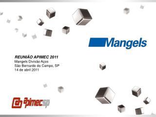 REUNI O APIMEC 2011 Mangels Divis o A os S o Bernardo do Campo, SP 14 de abril 2011