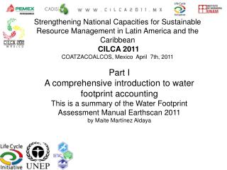 Part I A comprehensive introduction to water footprint accounting This is a summary of the Water Footprint Assessment Ma