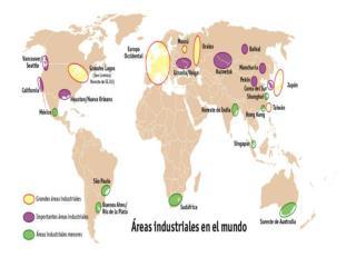 PRINCIPAIS  REAS INDUSTRIAIS -NA AM RICA DO NORTE NE dos EUA manufacturing belt Vale do sil cio Costa Pac fica e Golfo d