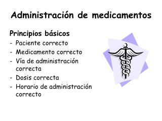 Administraci n de medicamentos