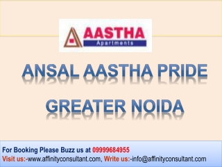 Ansal Sushant Megapolis Aastha Pride Apartments @09999684955