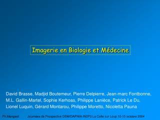 Imagerie en Biologie et M decine