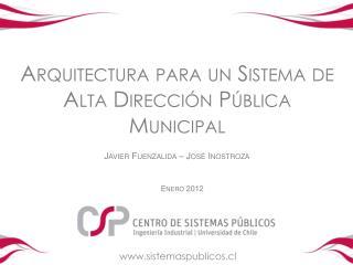 Arquitectura para un Sistema de Alta Direcci n P blica Municipal