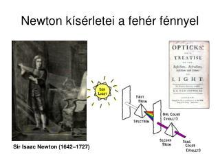 Newton k s rletei a feh r f nnyel