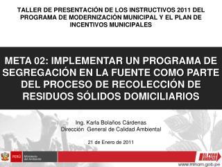 TALLER DE PRESENTACI N DE LOS INSTRUCTIVOS 2011 DEL PROGRAMA DE MODERNIZACI N MUNICIPAL Y EL PLAN DE INCENTIVOS MUNICIPA