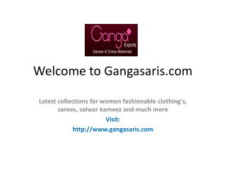 Welcome to Gangasaris.com