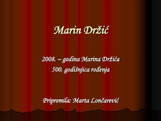Marin Dr ic
