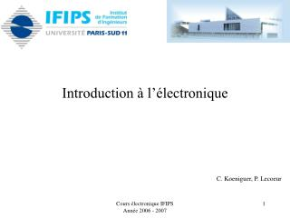 Introduction   l  lectronique
