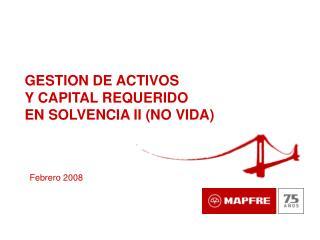 GESTION DE ACTIVOS  Y CAPITAL REQUERIDO  EN SOLVENCIA II NO VIDA