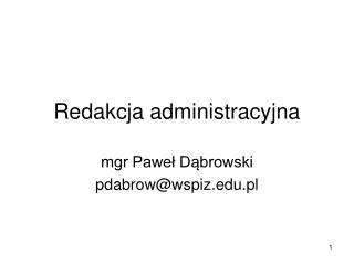 Redakcja administracyjna