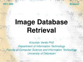 Image Database Retrieval