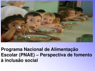 Programa Nacional de Alimenta  o Escolar PNAE   Perspectiva de fomento   inclus o social