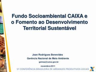 Fundo Socioambiental CAIXA e o Fomento ao Desenvolvimento Territorial Sustent vel