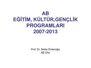 AB  EGITIM, K LT R,GEN LIK PROGRAMLARI  2007-2013