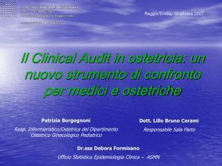 Il Clinical Audit in ostetricia: un nuovo strumento di confronto per medici e ostetriche