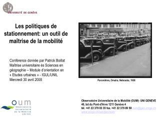 Les politiques de stationnement: un outil de ma trise de la mobilit