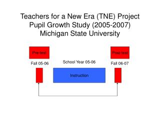 Teachers for a New Era TNE Project Pupil Growth Study 2005-2007 Michigan State University