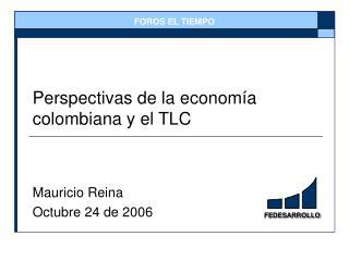 Perspectivas de la econom a colombiana y el TLC