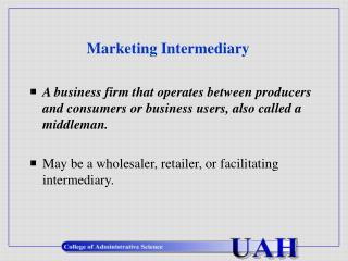 Marketing Intermediary
