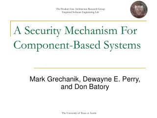 A Security Mechanism For Component-Based Systems