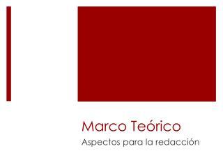 Marco Te rico