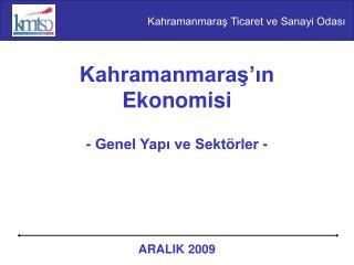 Kahramanmaras in Ekonomisi