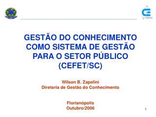 GEST O DO CONHECIMENTO COMO SISTEMA DE GEST O PARA O SETOR P BLICO CEFET