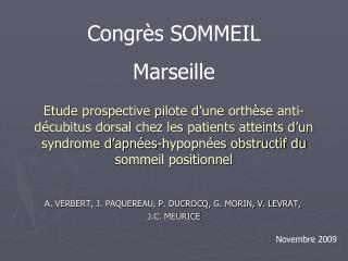 Etude prospective pilote d une orth se anti-d cubitus dorsal chez les patients atteints d un syndrome d apn es-hypopn es