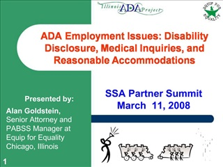 ADA Employment Issues: Disability Disclosure, Medical Inquiries, and Reasonable Accommodations