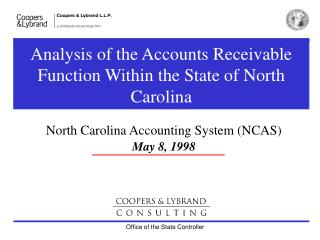 Analysis of the Accounts Receivable Function Within the State of North Carolina