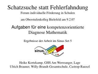 Schatzsuche statt Fehlerfahndung Forum individuelle F rderung in Schulen am Oberstufenkolleg Bielefeld am 9.2.07
