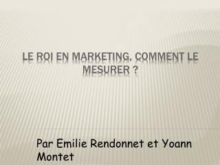Le ROI en marketing, Comment le mesurer
