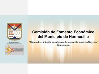 Comisi n de Fomento Econ mico  del Municipio de Hermosillo