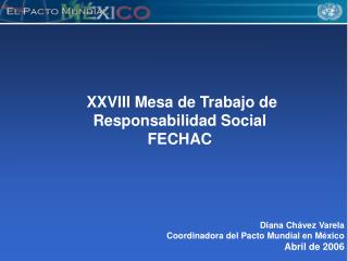 XXVIII Mesa de Trabajo de Responsabilidad Social FECHAC