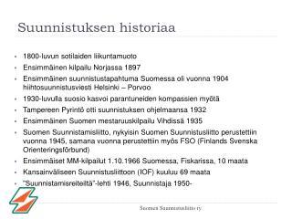 Suunnistuksen historiaa
