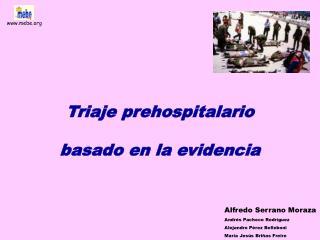 Triaje prehospitalario  basado en la evidencia