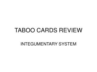 TABOO CARDS REVIEW
