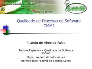 Qualidade de Processo de Software CMMI