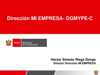 H ctor Sime n Riega Dongo Director Direcci n MI EMPRESA